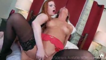 Busty sensual milf deep toying her pussy on chair