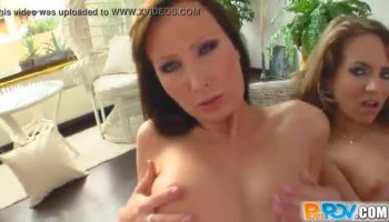 Gorgeous female sucks and plays with cock
