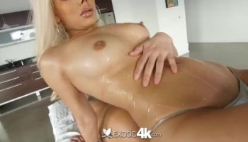Wicked hottie enjoys sex with her mighty dude